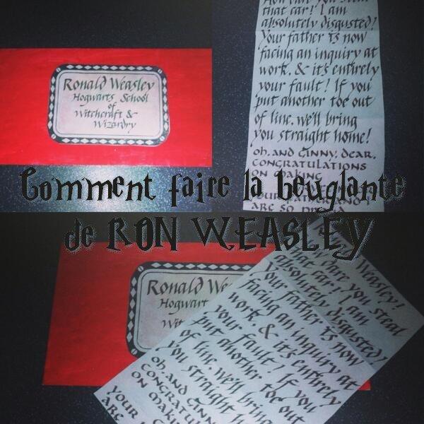 COMMENT FAIRE LA BEUGLANTE DE RON WEASLEY ??