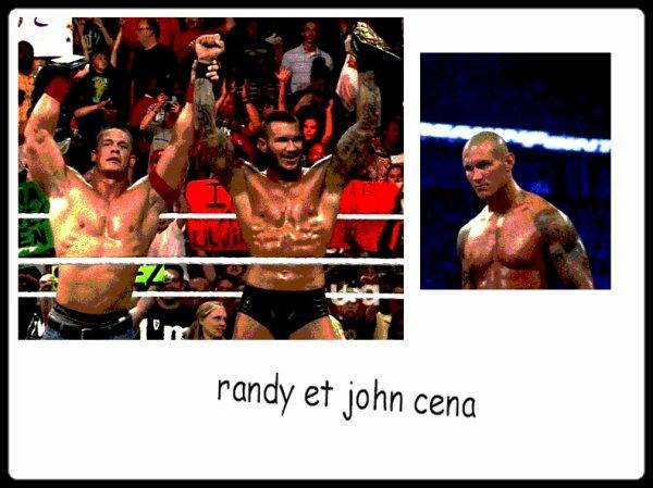 créa sur John Cena et Randy Orton