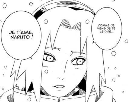 "Sakura qui dit "" je t'aime "" à Naruto !!!!!"
