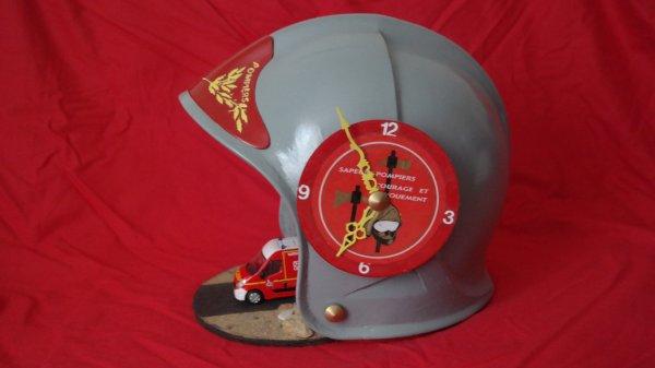 casque  pompier f1 caserne ( déco fais pare moi même )