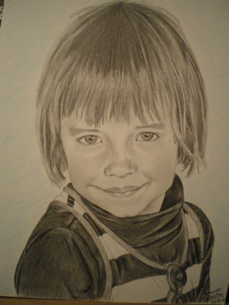 Portrait d'Emma, 5 ans.