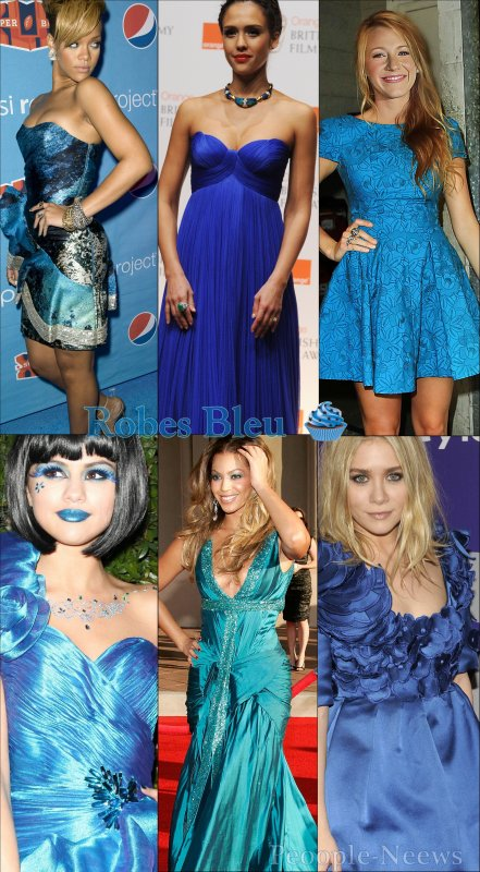 Les Stars & Leurs Robes Bleu