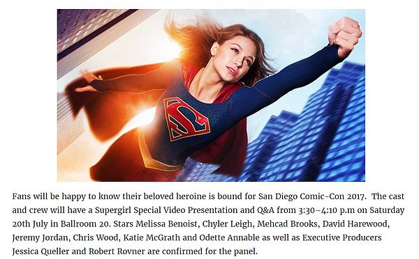 - Annonce : Comic Con de San Diego 2017 ! -