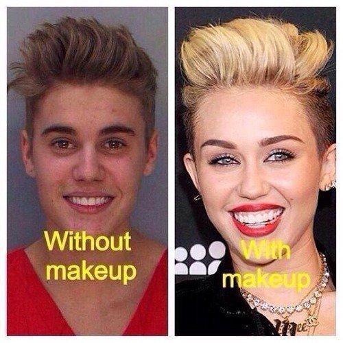 Sans Maquillage / avec Maquillage ( Remixer et Merci ♥ ! ) Lol !
