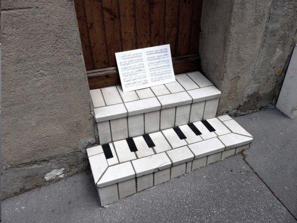 Escalier piano...