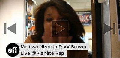 Melissa et VV Brown dans Planète Rap