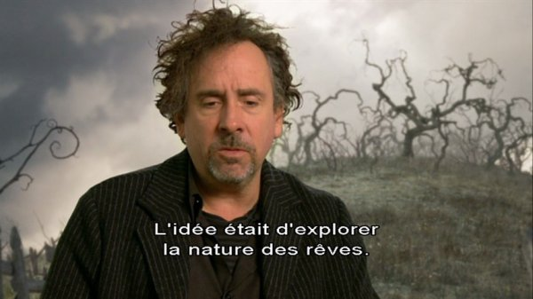 Ce que Tim Burton a pensé durant son film Alice au pays des merveilles