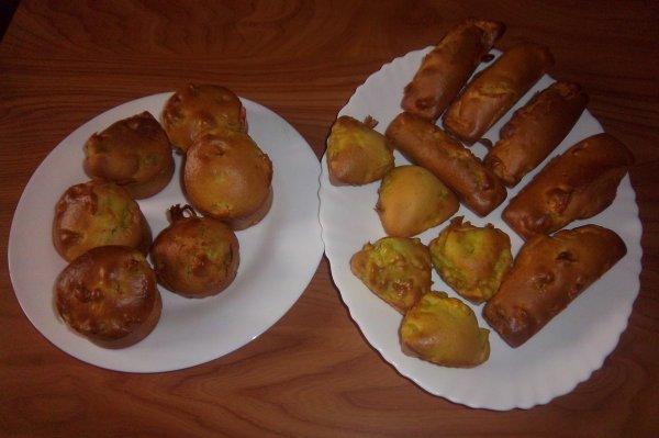 des  muffins aux  pommes et à la  canelle