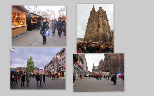 le marché de noël à Strasbourg lundi dernier je m'y trouvais avec ma coussine