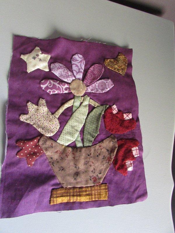 un autre panier en patchwork
