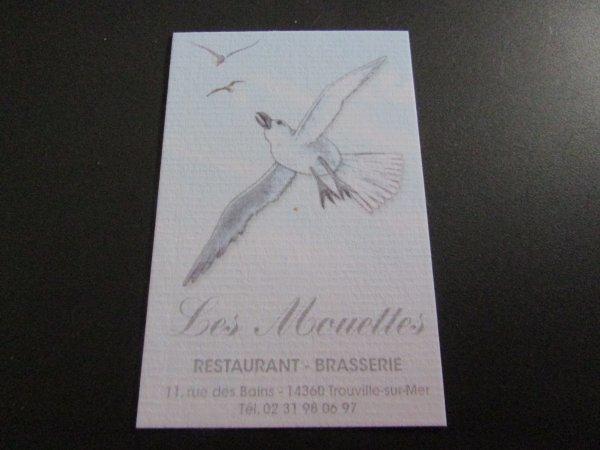 le marché aux poissons à Trouville et nous avons apprécié un bon restaurant les mouettes
