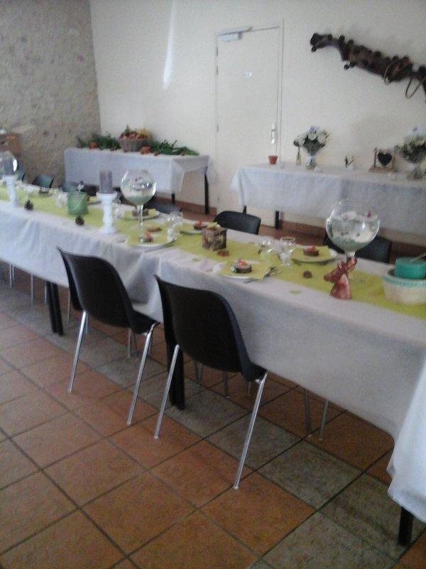 les décorations de la salle du mariage