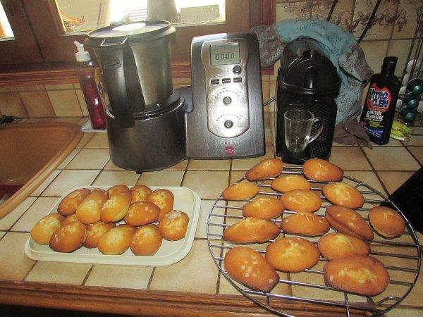 des madeleines avec mon cook'in