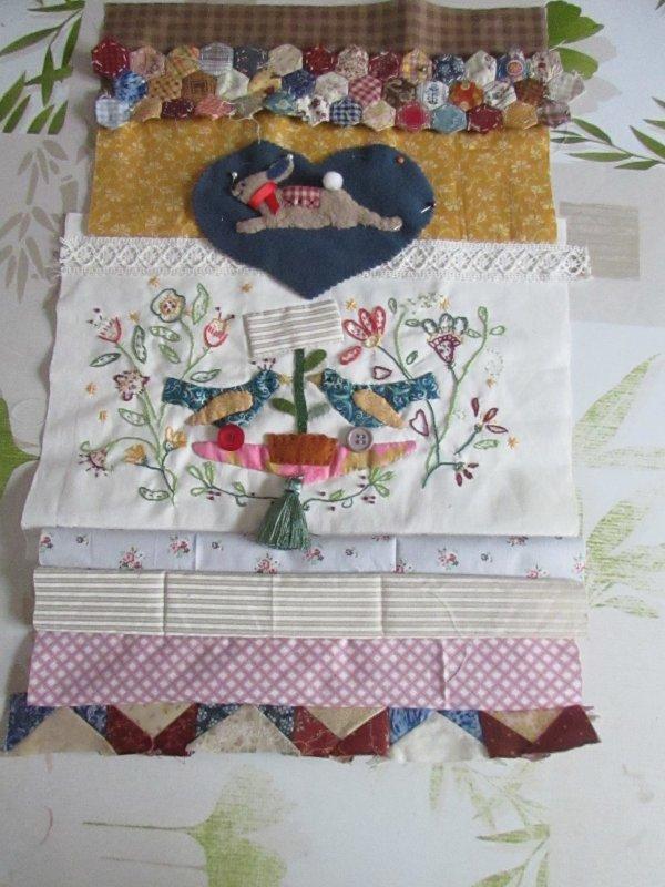 patchwork en cours modèle sur simply vintage n°22