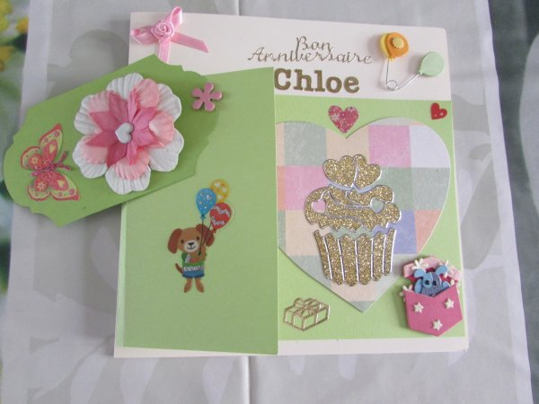 ma petite carte d'anniversaire pour ma petite fille