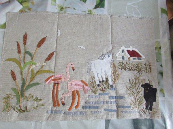 mon patchwork le chant des cigales le bloc 3 :la Camargue