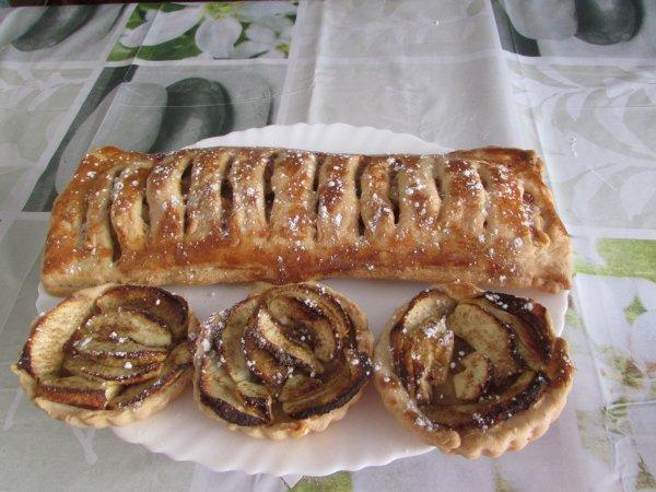 dessert pour ce week-end jalousie aux pommes et tartelettes aux pommes