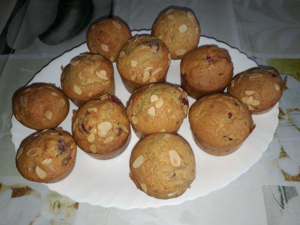 muffins aux framboises du jardin