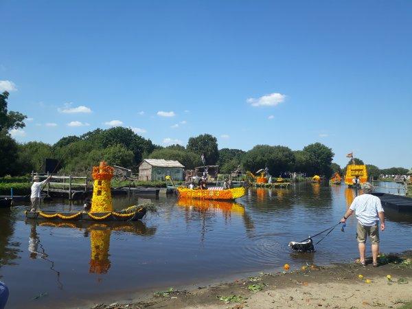 la fête des chalands à st André des eaux en Loire atlantique cet été