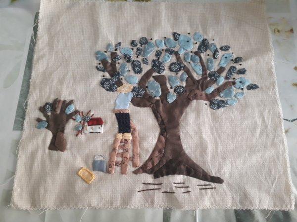 suite du patchwork le chant des cigales  l'olivier
