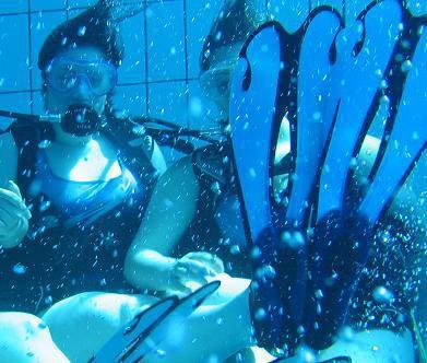 ma fille aurélie :sa  passion de la plongée