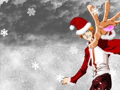 "Image de noel ""Rukia et Ichigo"""