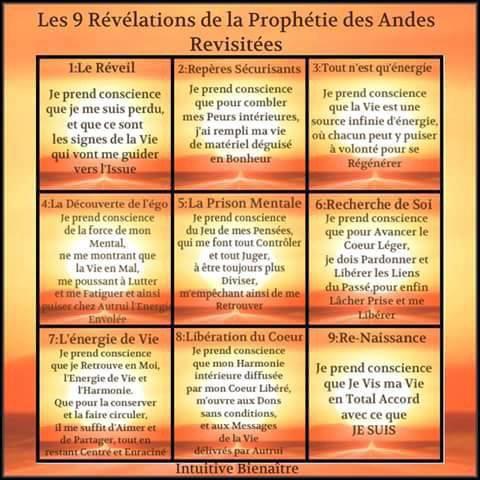 les 9 révélations de la prophétie des Andes revisitées