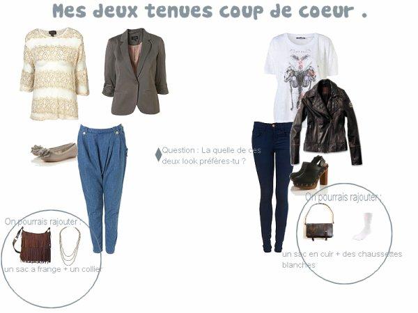 + Rubrique Look Coup de coeur