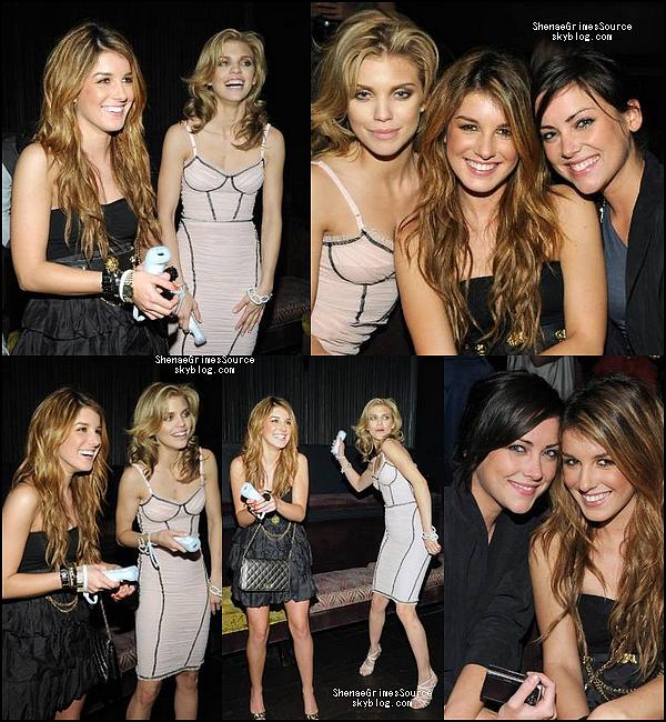 """______  ______• 21 Mars 2009  • ______Shenae, dans une tenu magnifique, et le cast de 90210 à la """"90210 Season Wrap Party""""  ______"""