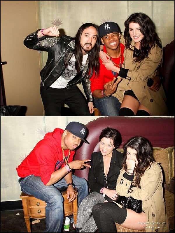 ______  ______• 3 Avril 2011 / Photo Personnel • ___Shenae et son co-star et ami Tristan Wilds étaient tous deux présent au concert de Steve Aoki au Palladium  ______