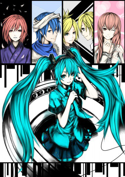 Vocaloid: Miku Hatsune, Megurine Luka, Kaito, Kagamine Rin & Len, et Meiko!