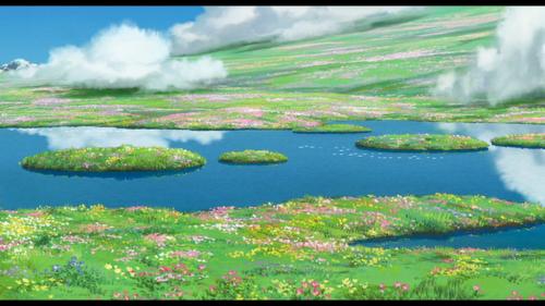 J'avais envie d'un peu de vert... Hauru no ugaku shiro.. Stekii deshou?