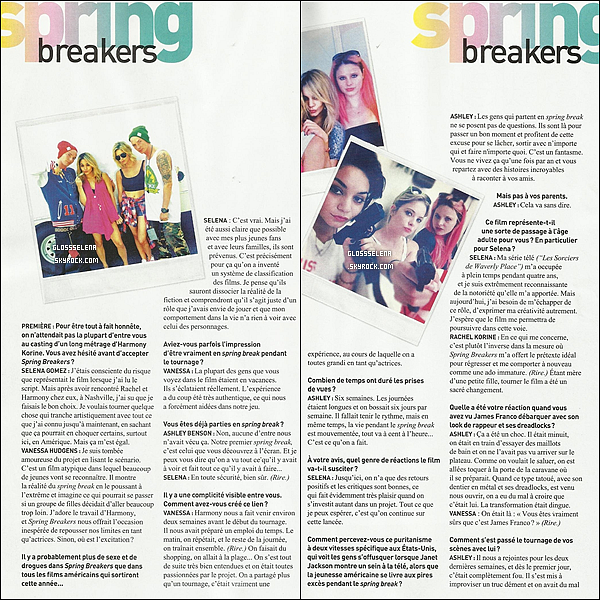 ARTICLE SPÉCIAL INTERVIEW SPRING BREAKERS !