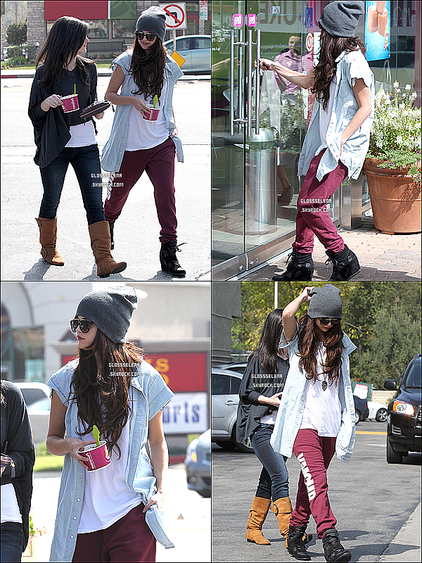05.03.2013 - Selena & Ashley Cook sortant du Menchie's à Los Angeles.