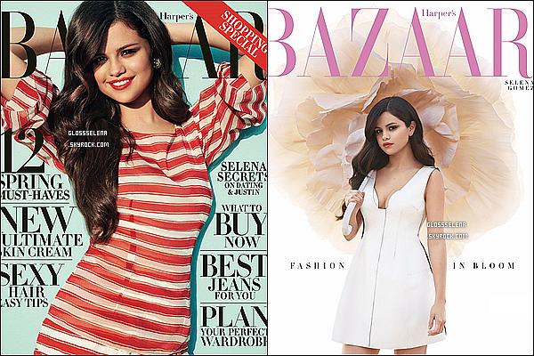 Selena fait la couverture de Harper's Bazaar :