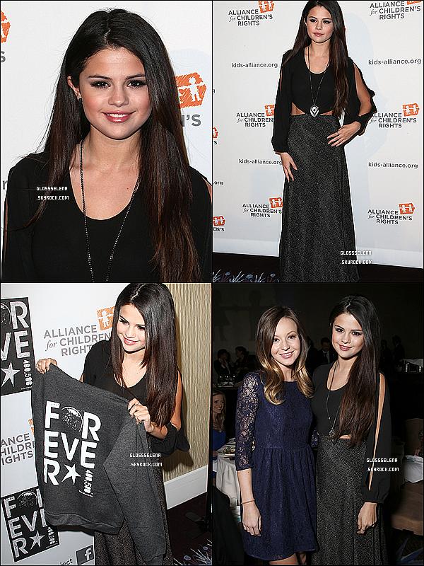 . 07.03.13 : Selena était sur le tapis rouge des « Alliance For Children's Rights »..