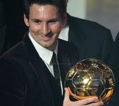 Lionel Messi -->Ballon d'or 2012