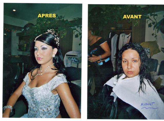 Maquillage avant coiffure pour mariage