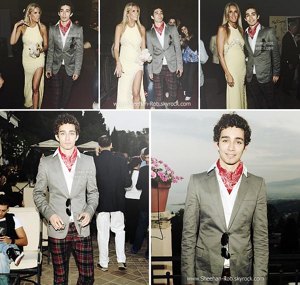 17 Juin 2011 : Rob était présent pour la 57e édition au Taormina Film qui est un festival consacré au cinéma .