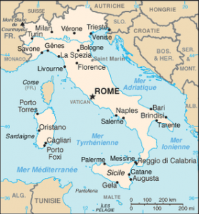 Map of Italia!