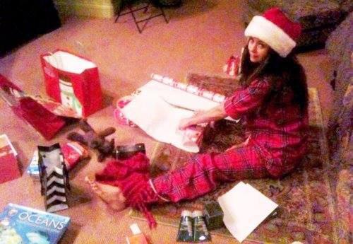 Nina à Noël ça donne ça ! :3