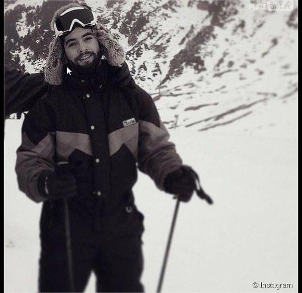 kendji en train de faire du ski