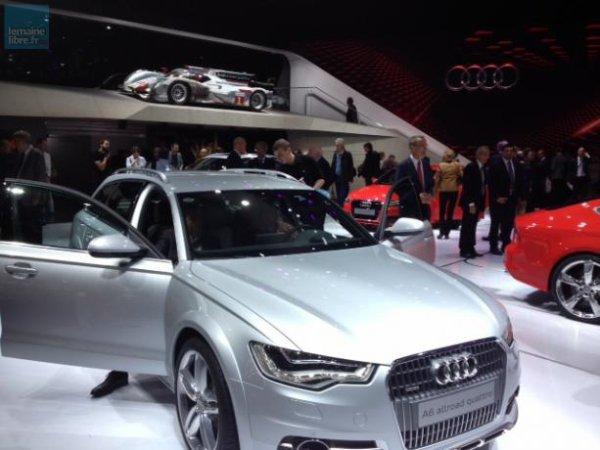 Audi est bien sûr présent, lui aussi, avec notamment l'A6 allroad quattro.
