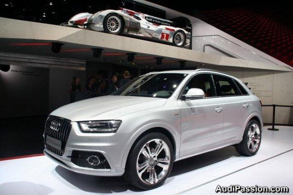 Une Audi Q3 et une Audi A4 TDi