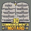 les 10 commandements du motard