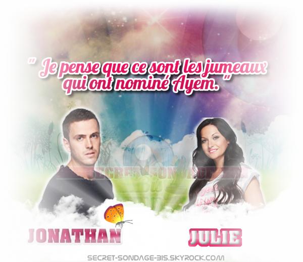 Julie et Jonathan, vont-ils buzzer ?