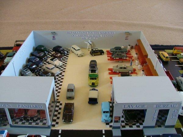 diorama de mon garage a l/exposition de franceuil 2014