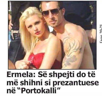 """Ermela: Se shpejti do me shihni prezantuese ne """"Portokalli"""""""