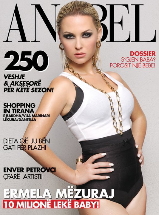 Ermela ne kopertinen e revistes ANABEL. Ju pelqen!
