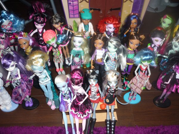 toute ma collection en tout 35 monster high - Les Monster High